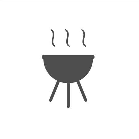 Barbecue icon, bbq vector, food illustration on white background Ilustração