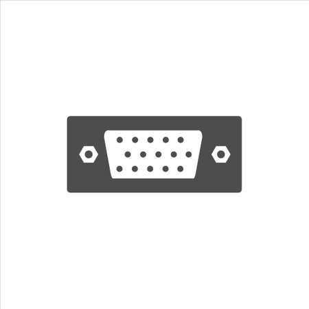 VGA port icon vector on white background