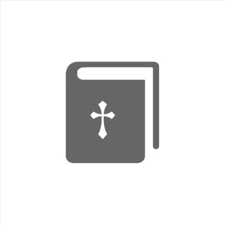 Bible book icon, religion vector on a white background 免版税图像 - 139997370