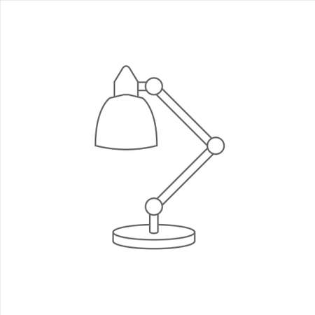 Desk lamp icon, table lamp vector on white background 矢量图像