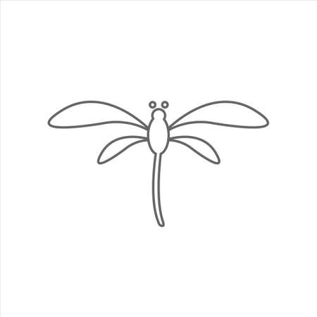 Dragonfly icon, animal vector, insect illustration on white background Ilustração