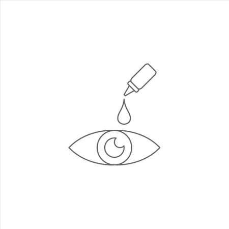 Eye drops icon, optic care vector on white background Ilustracja