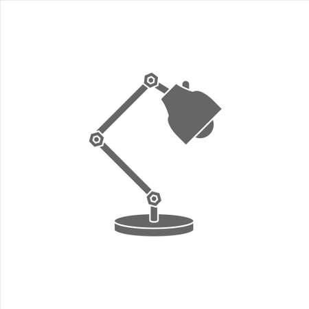Lamp icon, table lamp vector on white background