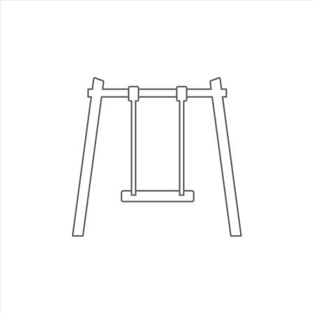Playground swings icon in flat style vector on a white background