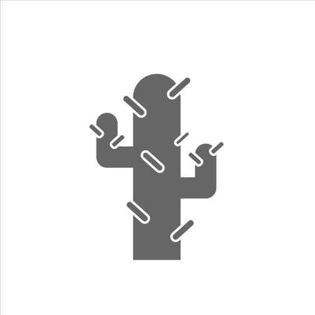 Cactus icon, cactus vector on white backgorund