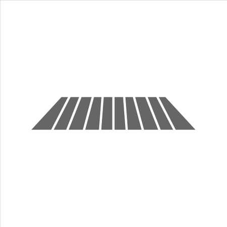 Crosswalk icon vector on white background