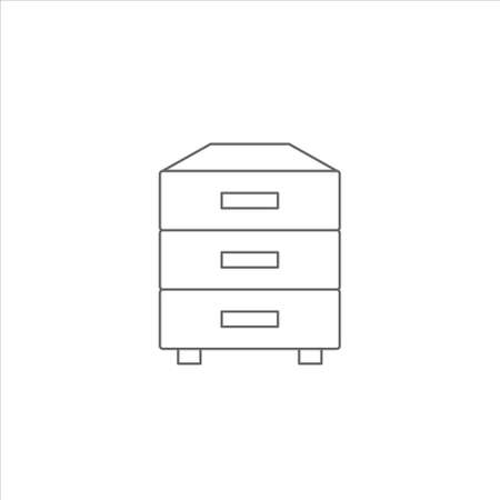 Drawer icon vector on white backgorund