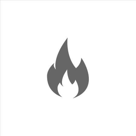 Fire icon, blaze vectoron white background 免版税图像 - 139925686