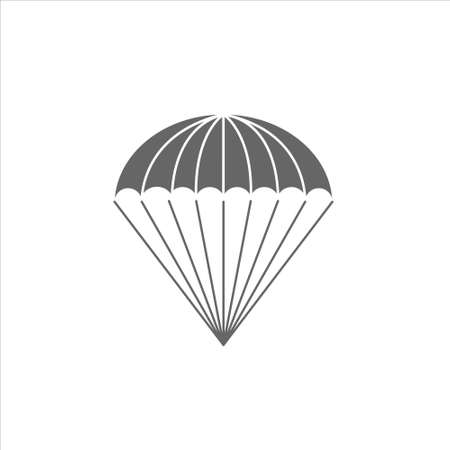 Parachute icon vector on white background