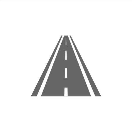 Road icon vector on white background