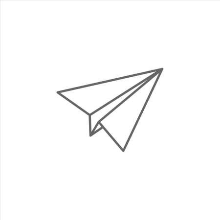 Paper plane icon vector design template on white background 矢量图像