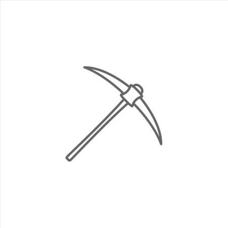 Pickaxe icon, ice axe vector on white background 矢量图像