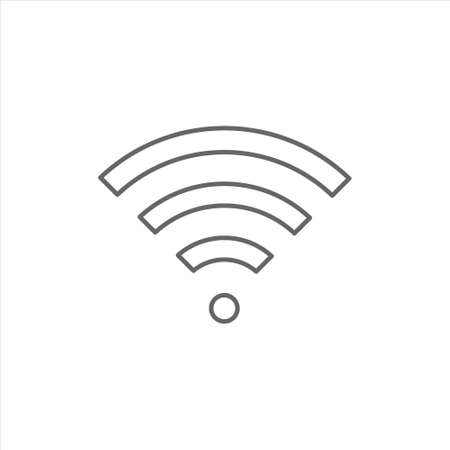 Wifi icon vector design template on white background