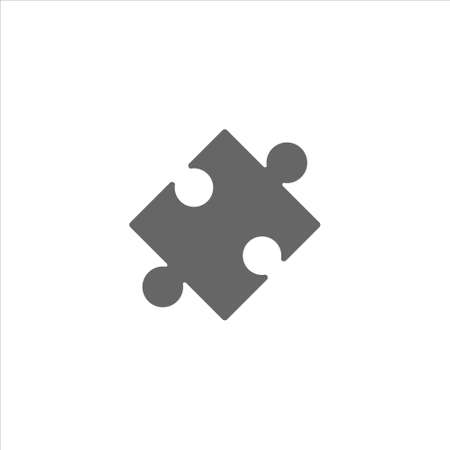 Puzzle Icon vector in trendy flat style isolated on white background