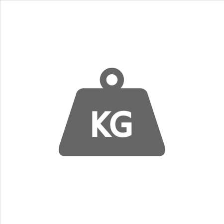 Weight kilogram icon in trendy flat style isolated vector on white background Ilustração