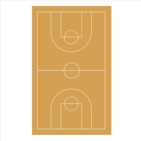 Basketball court  vector on white background