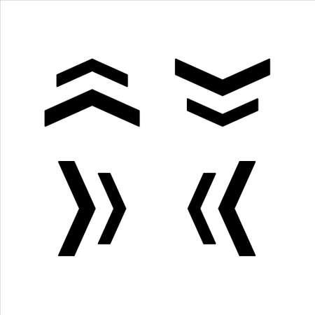 Black arrow icon.vector on white background 矢量图像