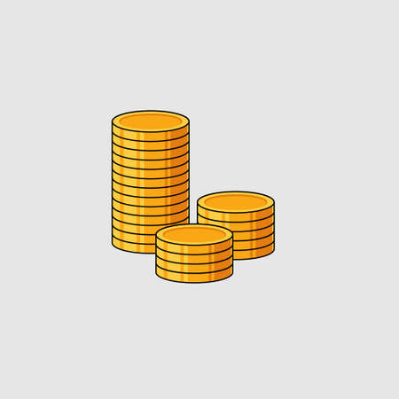 Coins Icon coins vector icon. bank payment symbol.
