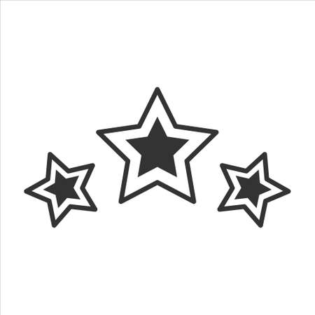 Star vector icon on white background