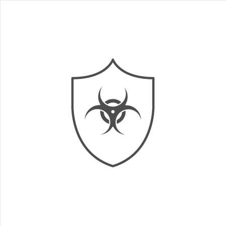 Vector shield icon. Security vector icon. Protection icon. Shield vector icon Radiation protection.