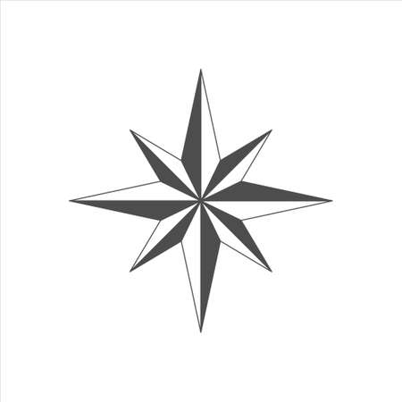 Arrow Compass icon vector sign isolated on white background Ilustração