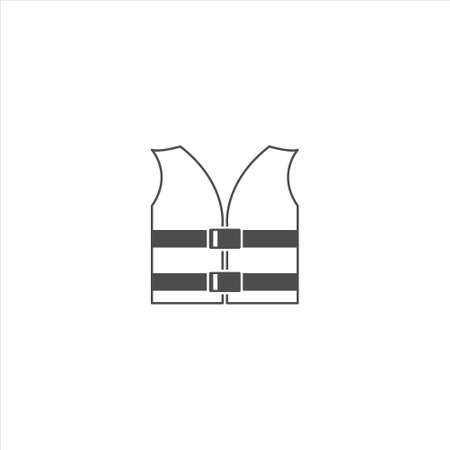 Life jacket icon vector sign isolated on white background Illustration