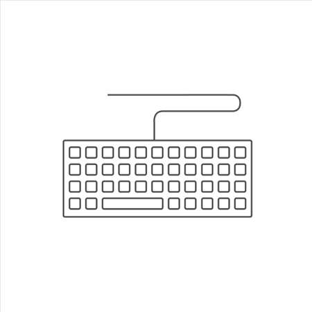 Keyboard icon vector sign isolated on white background. keyboard symbol 矢量图像