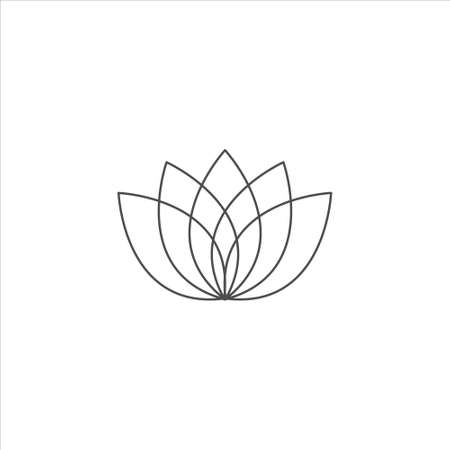 Lotus icon vector sign isolated on white background. Lotus symbol 免版税图像 - 141611036