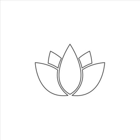 Lotus vector sign isolated on white background. Lotus symbol template