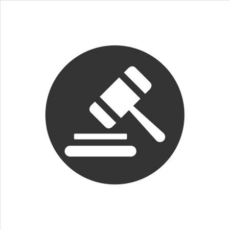 Gavel icon sign symbol vector on whtie background