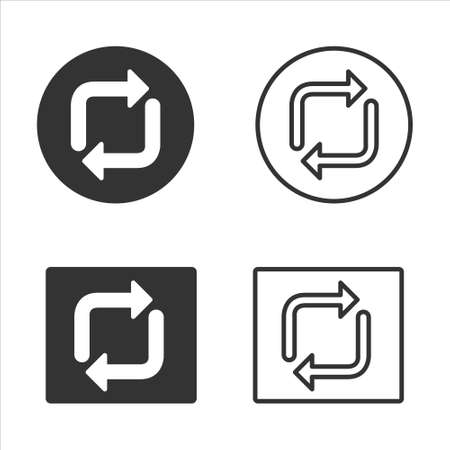 Reverse arrow symbol icon sign symbol vector