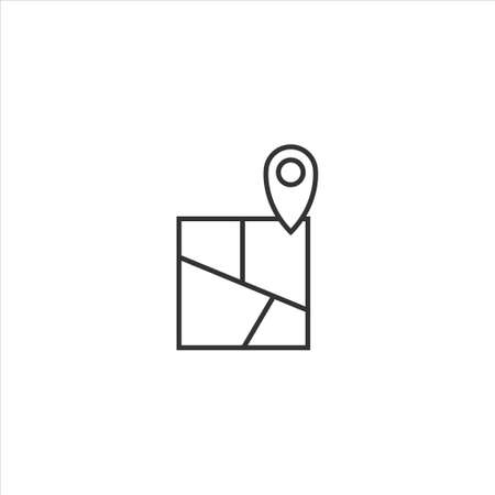Map icon sign symbol vector on white background 矢量图像