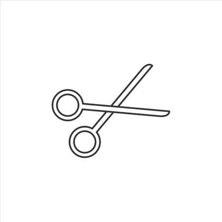 Scissors, cut icon symbol vector on white background 矢量图像