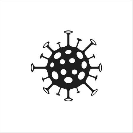Coronavirus Bacteria Cell Icon vector on white background 矢量图像