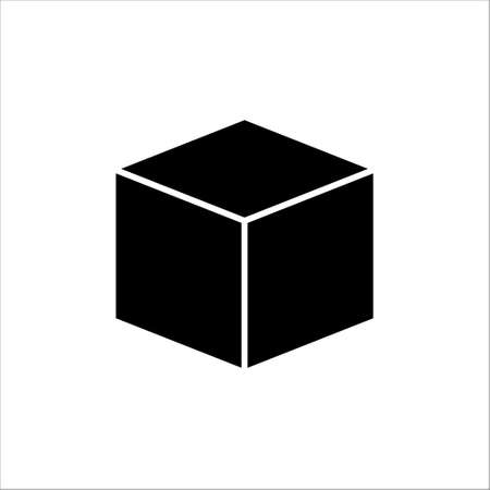 Black box icon vector on white background