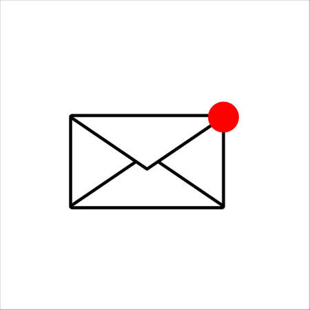 Mail icon. Online postal sign. vector illustration on white background