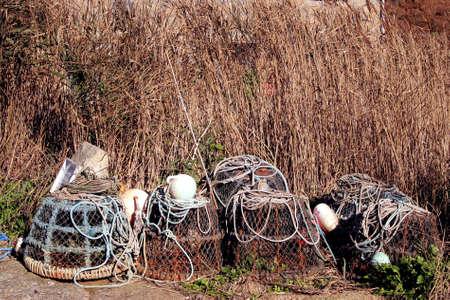 lobster pots: LOBSTER POTS - 6984 Stock Photo