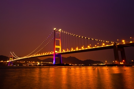 brige: Tsing Ma Bridge of Hong Kong