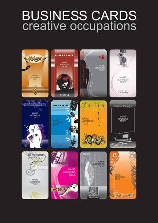 stilist: business cards, creative occupations,