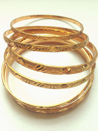 gold: The bangles made of glod