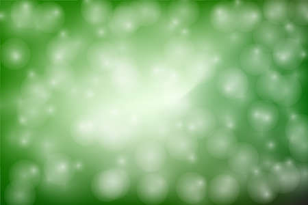Green Bokeh Abstract Background Blurred Bokeh Light Circles Glisten On Green Background Like Sunlight Against Leaves Vector Illustration Vetores