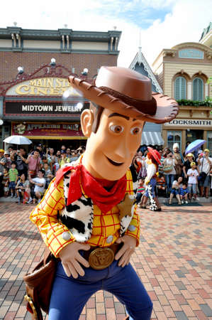 toy story: Woody from Toy story is the famous cartoon from disney. Editorial