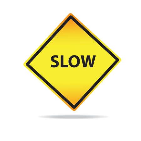 Vector Slow warning symbol photo