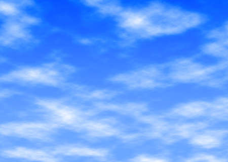 heavenly light: illustration of light clouds in a blue sky Stock Photo