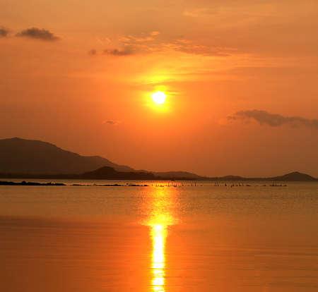 thani: Sunset at Samui island,Surat Thani, Thailand