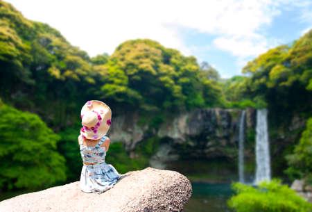 Cheonjiyeon Waterfall is a waterfall on Jeju Island, South Korea.