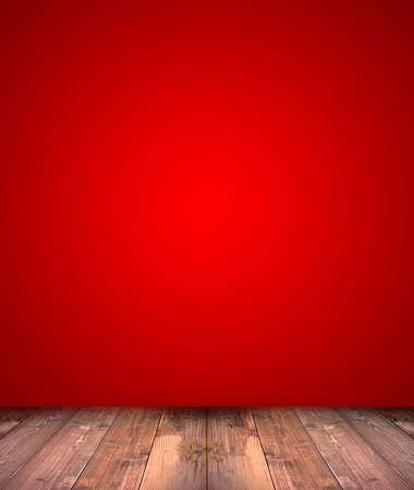 natale: astratto sfondo rosso con pavimento in legno