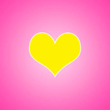 abstract Pink with yellow heart background layout design, web template with smooth gradient color Stock Photo