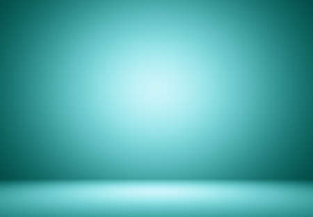 gradients: Smooth Turquoise with Black vignette Studio well use as background,bussiness report,digital,website template. Stock Photo