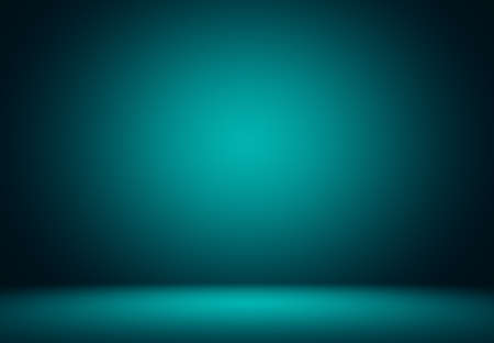 Smooth Turquoise with Black vignette Studio well use as background,bussiness report,digital,website template. 写真素材